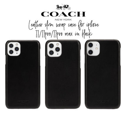Coach iPhone・スマホケース 【COACH】Leather Slim Wrap Case for iPhone 11/11pro/11promax