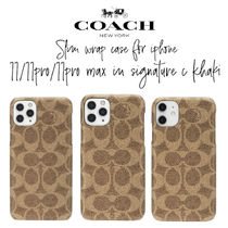 【COACH】Slim Wrap Case For iPhone11/11Pro/11ProMax ロゴあり