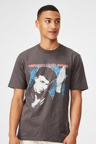 【COTTON:ON】 メンズ Music Tシャツ david bowie - heroes