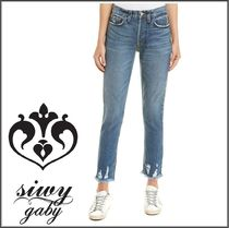 Siwy★Gaby High Wasit 裾ダメージ入り スキニージーンズ