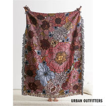 Urban Outfitters/ floral woven reversible ブランケット関送込
