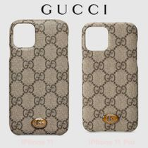 OPHIDIA★GG Supreme【送込 GUCCI】iphone 11/Pro★GGデコロゴ