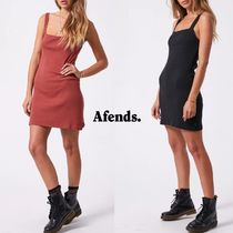 AFENDS(アフェンズ) ワンピース Afends☆リブスクエアネックワンピース☆関税送料込☆T