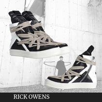 完売間近! RICK OWENS GEOBASKET SNEAKERS WITH LACES