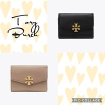 【Tory Burch】KIRA MIXED-MATERIALS MEDIUM FLAP WALLET