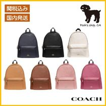 【COACH】Charlie Backpack レザーバックパック◆国内発送◆