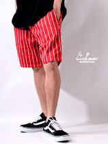 COOKMAN クックマン Chef Short Pants ショート Stripe Red