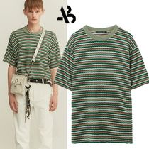 ★ANDERSSON BELL★ETHNIC STRIPE SHORT SLEEVE KNIT GREEN