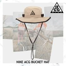 お早めに!NIKE ACG BUCKET HAT STRING & BLACK