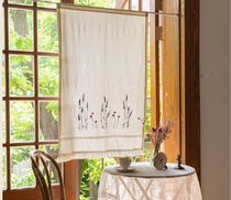 【DECO VIEW】Lavender vintage tassel embroidery curtain