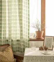 【DECO VIEW】Forest check small window curtain