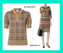 BURBERRY Chatterton Archive Check メリノウールポロセーター