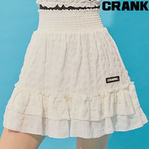 ★CRANK ★SMOKING FRILL SKIRT_WT★正規品/韓国直送料込