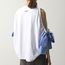 MSGM カットソー 2842 MDM268 SCOOP NECK T-SHIRT WITH BOWS