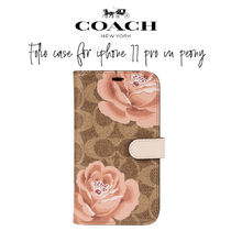 【COACH】Folio Case for iPhone 11 Pro in Peony 手帳型 花柄