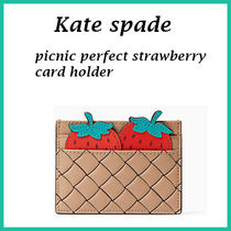 【Kate spade】picnic perfect card holder 可愛いいちご!