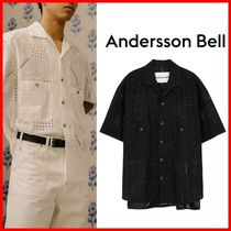 ★ANDERSSON BELL★ANDREA COTTON OPEN COLLAR SHIRT☆