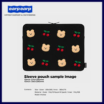 ◆EARPEARP◆ DOT CHERRY BEAR PC CASE (13・15インチ) PCポーチ