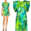 VER194 JUNGLE PRINT CREPE DRESS