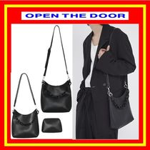 [OPEN THE DOOR]  leather chain pouch set bag ◆追跡付