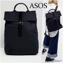 ASOS*Mi-Pac Canvas Fold Top Backpack(送料込)