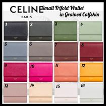 CELINE☆お財布☆SMALL TRIFOLD WALLET IN GRAINED CALFSKIN