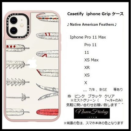 Casetify スマホケース・テックアクセサリー Casetify iphone Grip case♪Native American Feathers♪