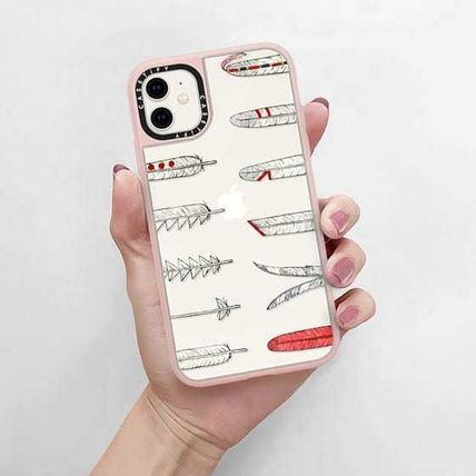 Casetify スマホケース・テックアクセサリー Casetify iphone Grip case♪Native American Feathers♪(4)