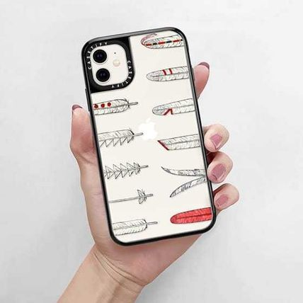 Casetify スマホケース・テックアクセサリー Casetify iphone Grip case♪Native American Feathers♪(7)