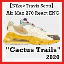 "Travis Scott X Nike Air Max 270 React ENG ""Cactus Trails"""