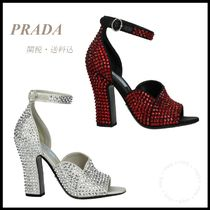 *PRADA*CRYSTAL EMBELLISHED SANDALS 関税/送料込