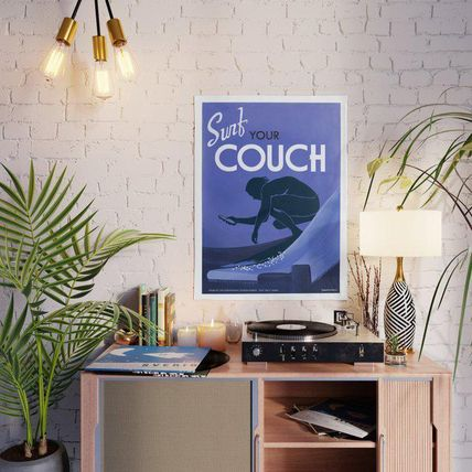 Society6 ポスター・ウォールステッカー 日本未入荷・送料無料 Surf Your Couch Poster