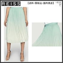 【海外限定】REISS スカート☆Mila gradient-print high-waist w