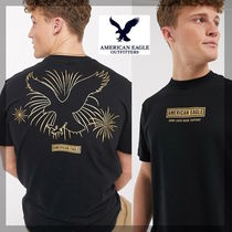 American Eagle Outfitters(アメリカンイーグル) Tシャツ・カットソー [送関込]AmericanEagle バックグラフィティTシャツ [国内発送]