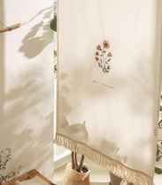 【DECO VIEW】Saffron flower embroidery curtain