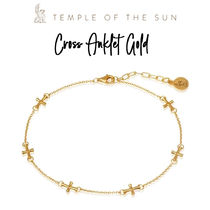 【TEMPLE OF THE SUN】Cross Anklet Gold ゴールドアンクレット