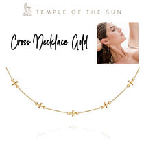 【TEMPLE OF THE SUN】Cross Necklace Gold ゴールドネックレス