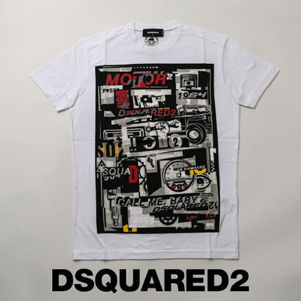 D SQUARED2 Tシャツ・カットソー ディースクエアード カスタマイズカープリントTシャツs74gd0653