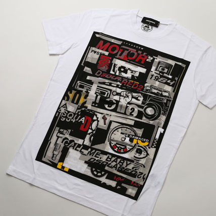D SQUARED2 Tシャツ・カットソー ディースクエアード カスタマイズカープリントTシャツs74gd0653(3)