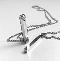 【ACHA】SURGICAL STEEL SQUARE STICK NECKLACE