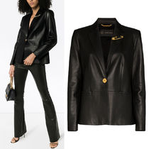 VER209 SAFETY PIN LEATHER JACKET