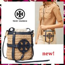 セール 新作 Tory Burch Miller Straw Mini Bucket Bag