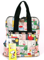 """SALE ! ☆LeSportsac PEANUTS """"SNOOPY PATCHWORK"""" EVERYDAY BP"""