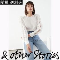 *& Other Stories* フリル刺繍トップス Y351
