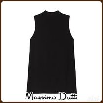 MassimoDutti♪TOTAL LOOK BLACK HIGH NECK TOP
