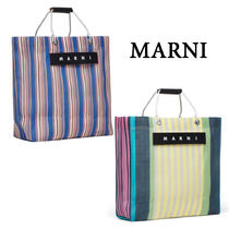 【MARNI】マルニ STRIPED SHOPPING BAG