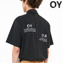 ★OY★BACK BUTTON HALF SHIRTS-BLACK★正規品/韓国直送料込