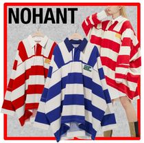 NOHANT(ノアン) Tシャツ・カットソー ☆韓国の人気☆NOHANTノアン☆OVERSIZED RUGBY SHIRT☆2色☆