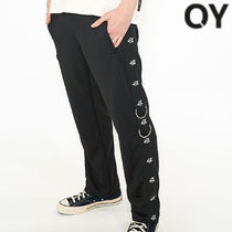 ★OY★LOGO TAPE RING TRACK PANTS-BLACK★正規品/韓国直送料込