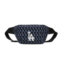 [ MLB ] Monogram Hip Sack LA Dodgers ボディバッグ (Navy)